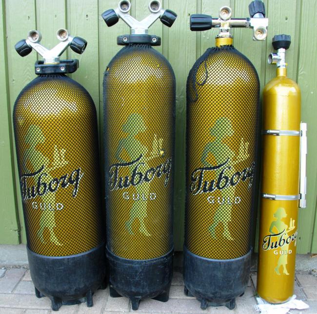 Guldtuborg flasker