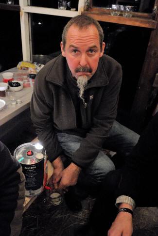 Lennart med den sidste tønde øl