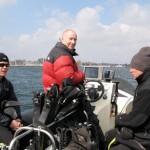 Med drillenissen på Øresund
