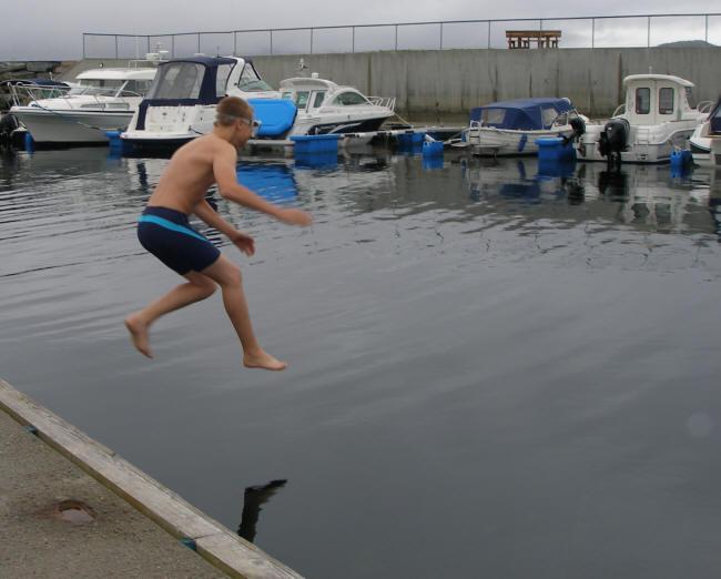 Første mand i vandet
