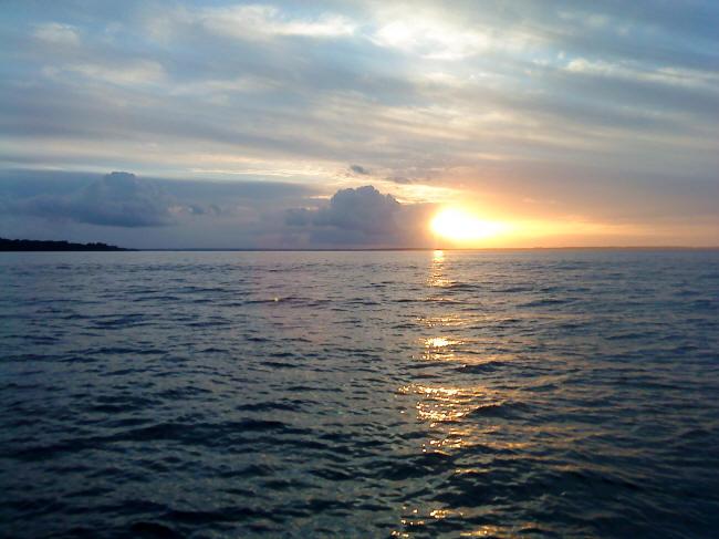 Den fine solnedgang man kom op til