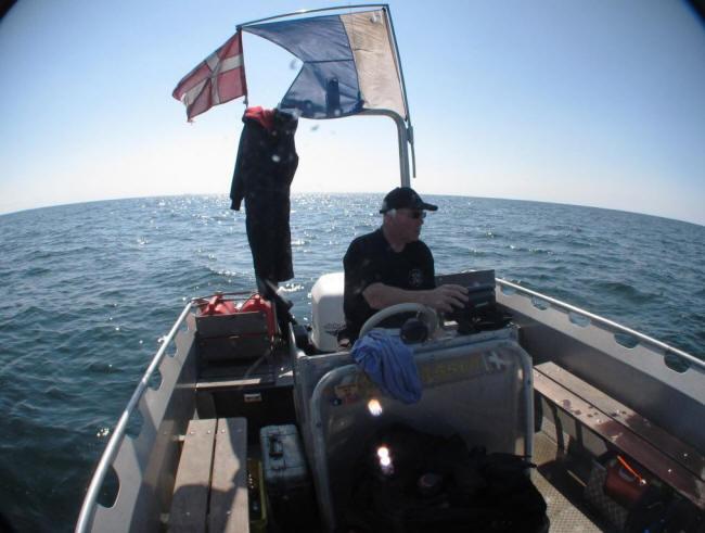 Dykkerflaget oppe