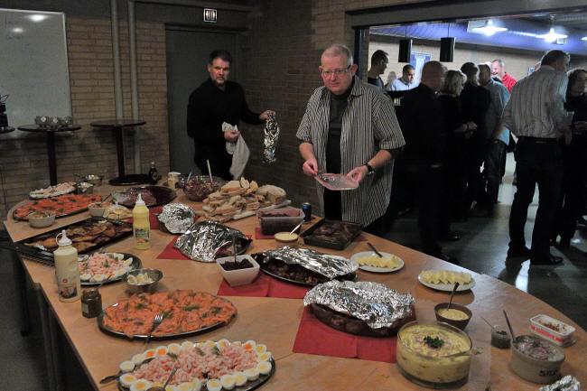 Kokkene og noget af maden