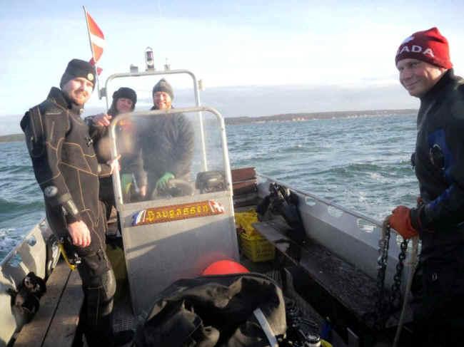 Flere glade dykkere