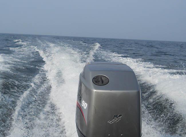Ud over bølgen blå